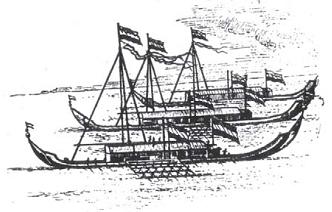 Perahu Kora-kora dilengkapi Senjata untuk Pelayaran Hongi