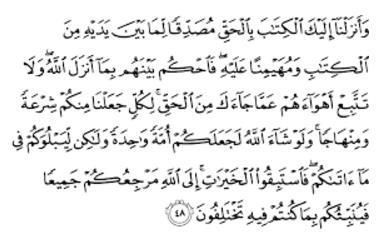 QS Al Maidah Ayat 48 - Dalil Iman Kepada Kitab Allah