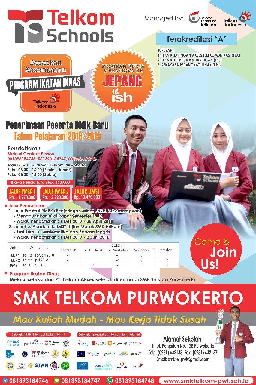 Info Pendaftaran SMK Telkom Purwokerto
