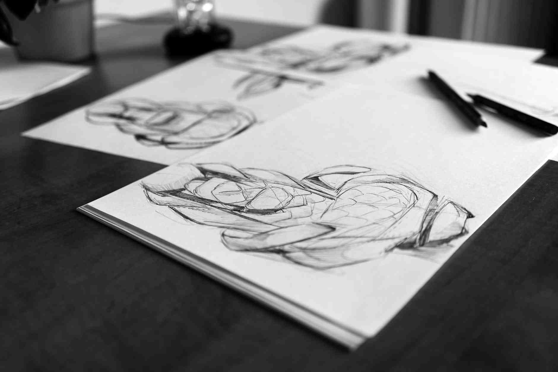 konsep seni rupa membuat sketsa