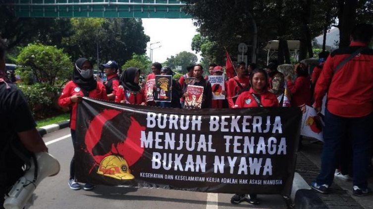 demo kenaikan upah buruh